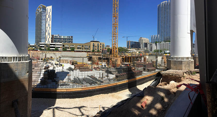 Seaholm construction panoramic